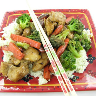 Teriyaki Chicken With Vegetables.
