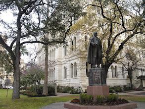 Photo: Moses Austin statue San Antonio 3/8/14