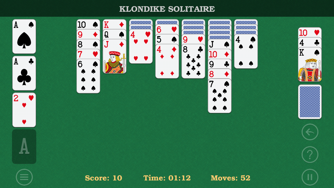 Solitaire Klondike classic.- screenshot