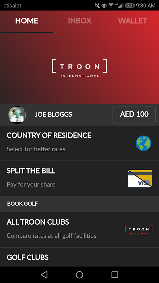 Troon International- screenshot