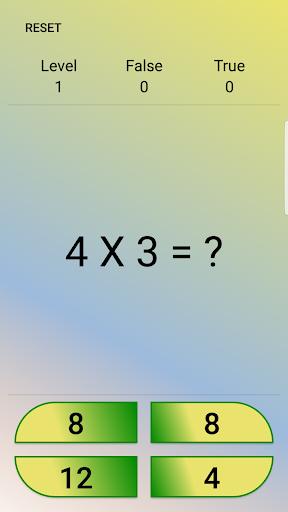 MathQuiz , learning multiplication table 1.08 screenshots 2