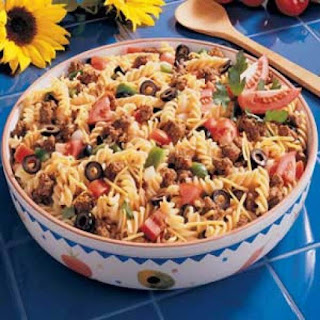 Taco Pasta Salad With Ground Beef Recipes