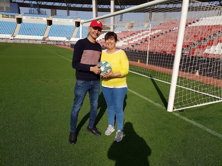 Con su mujer, Ana Belmonte.
