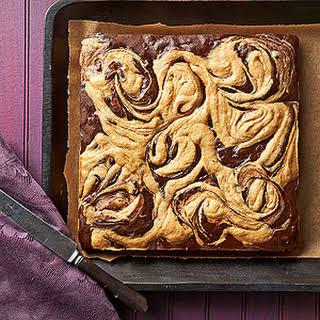 Peanut Butter Swirl Chocolate Brownies.