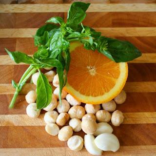 Four-Ingredient Orange Macadamia Pesto