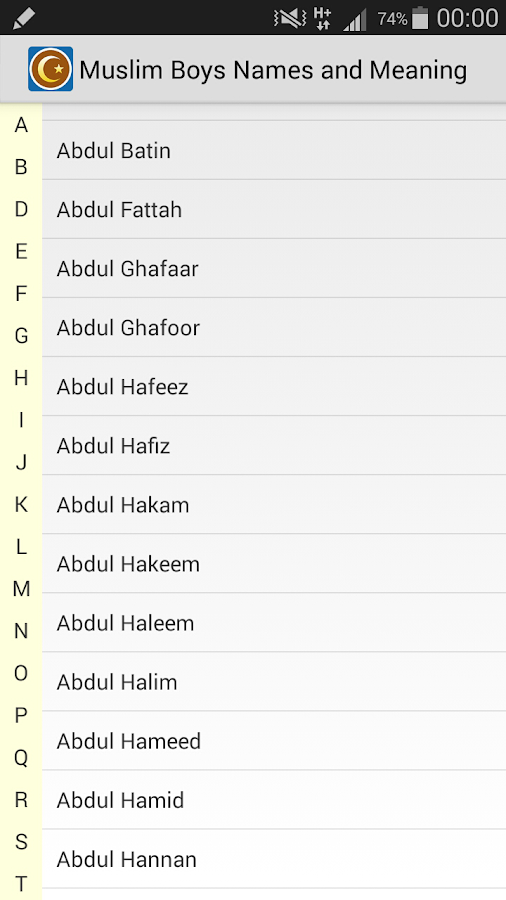 Muslim Boys Names And Meaning Screenshot