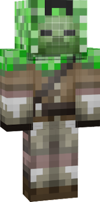 Zombie that saved mind and now hunting creepers