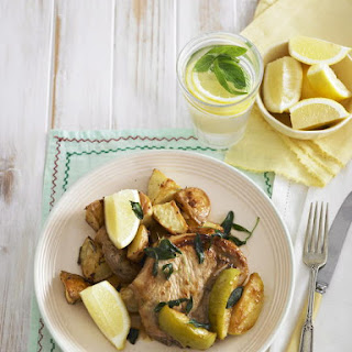 Pork Chops with Rosemary Potatoes.