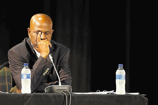 Joseph Mathunjwa, president of the Association of Mineworkers and Construction Union, testifies at the Farlam Commission of Inquiry into the Marikana killings, in Rustenburg, North West. File photo.