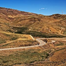 Curvy RoadA by Richard Michael Lingo - Transportation Roads ( roads, transportation )