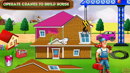 Pink House Construction: Home Builder Games 1.2 screenshots 2