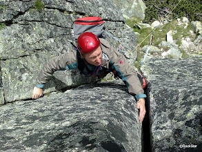 Photo: ...a može začať lezenie...