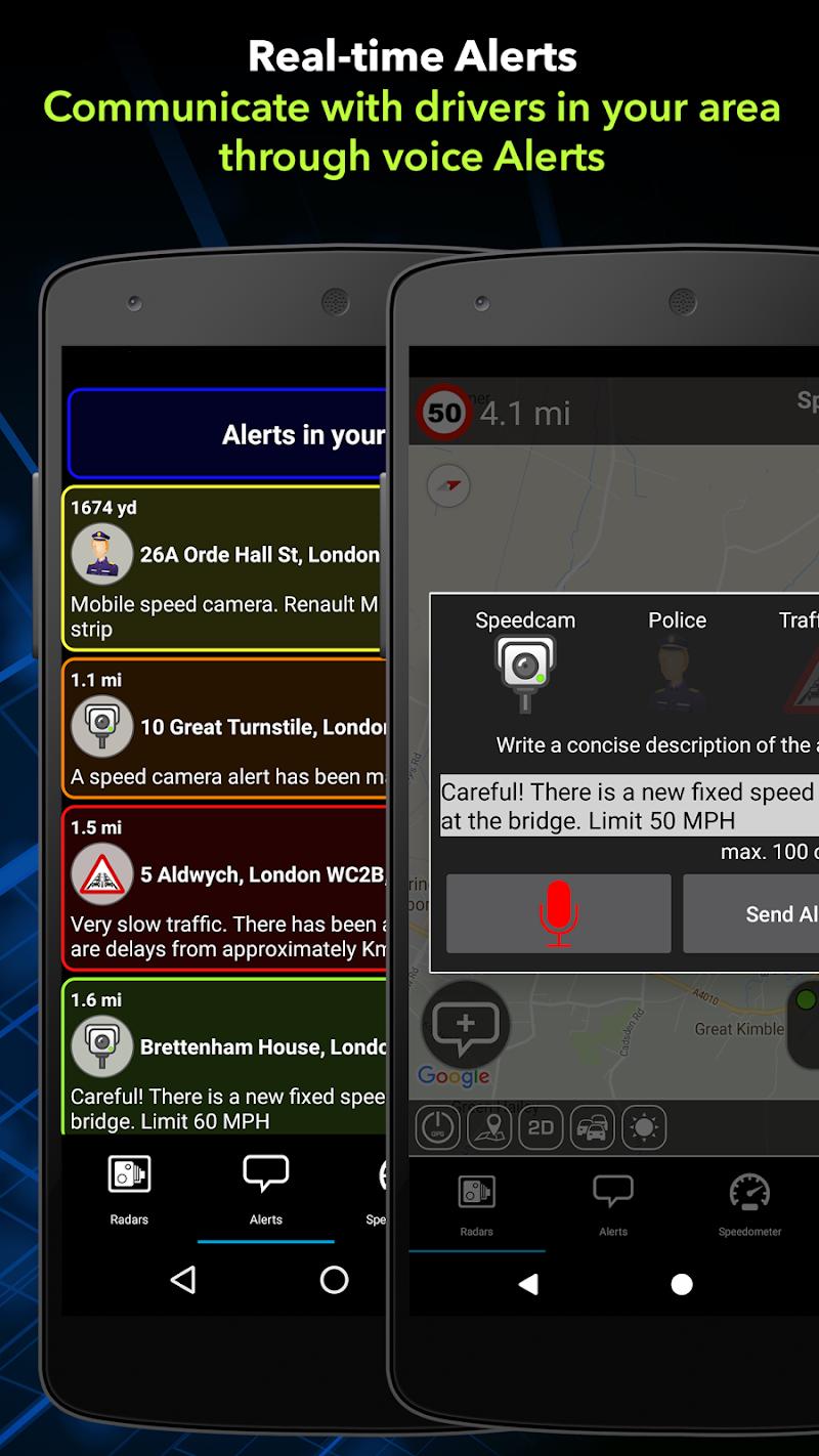 Radarbot Pro: Speed Camera Detector & Speedometer Screenshot 1