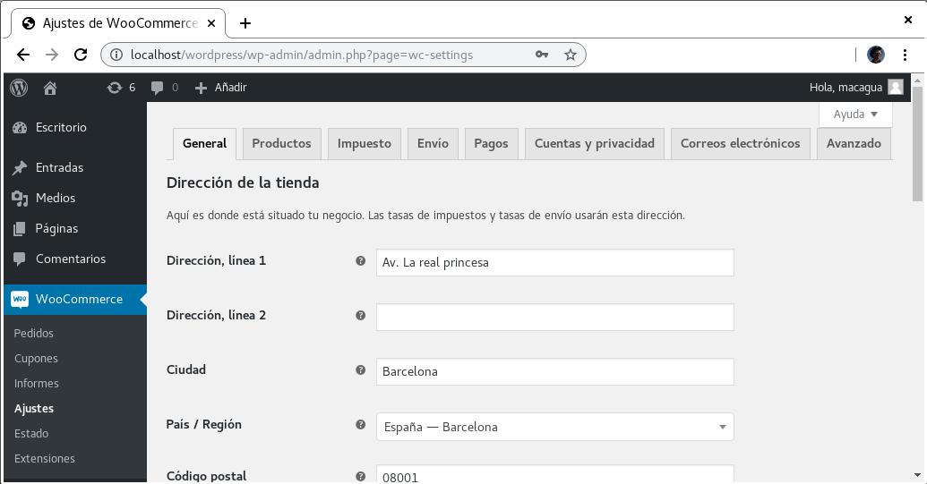 WooCommerce traducido al Español de España