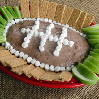 Chocolate Fluffernutter Football Dip