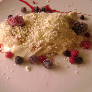 White Chocolate Trifle with Fruit.