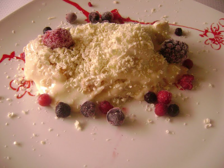 White Chocolate Trifle with Fruit Recipe