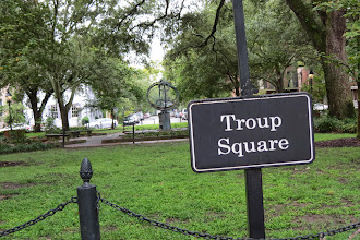 Photo: Troup Square with an Armillary Sphere in the background