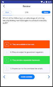 Ethical hacking and countermeasures practice exams Apk Download For Android 7