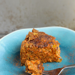Healthier Carrot Pudding.
