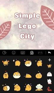 Simple Lego City Keyboard Theme - náhled