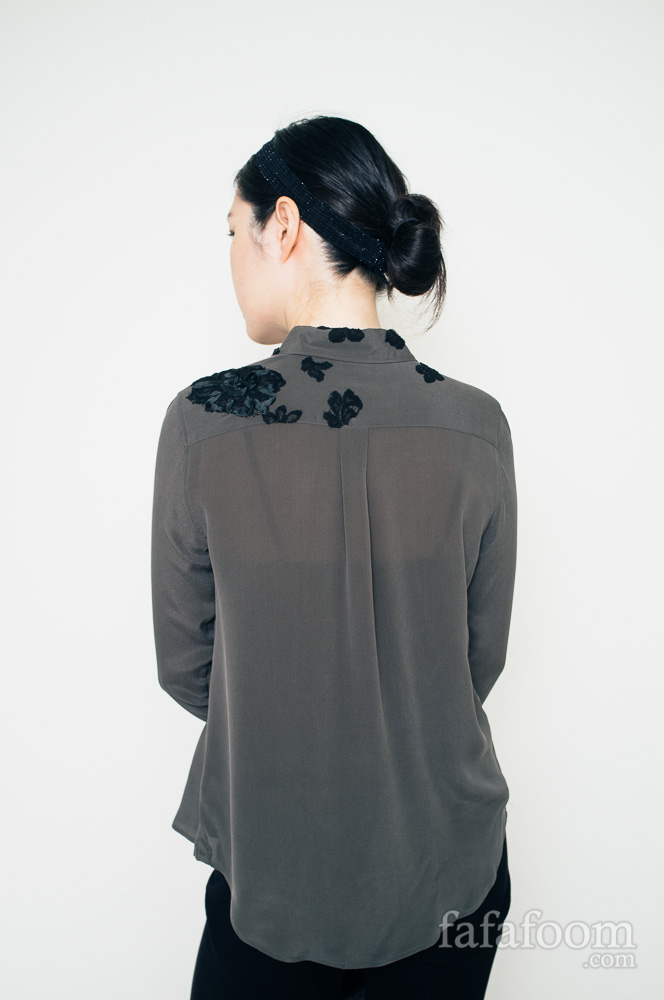 Result: DIY Lace Appliqués on Blouse - DIY Fashion Garments | fafafoom.com