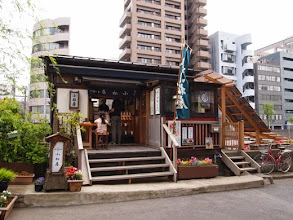 Photo: 神田川の柳橋のたもとにて