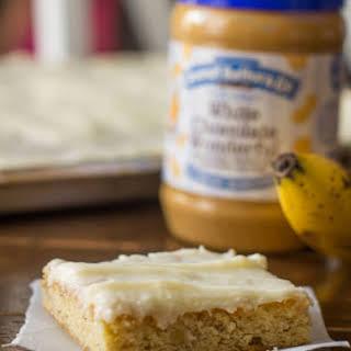 White Chocolate Peanut Butter Banana Cake.