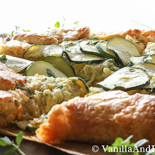 Zucchini and Caramelized Onion Galette with Guryere
