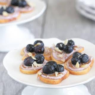 Honey Almond Blueberry Bagel Bruschetta.