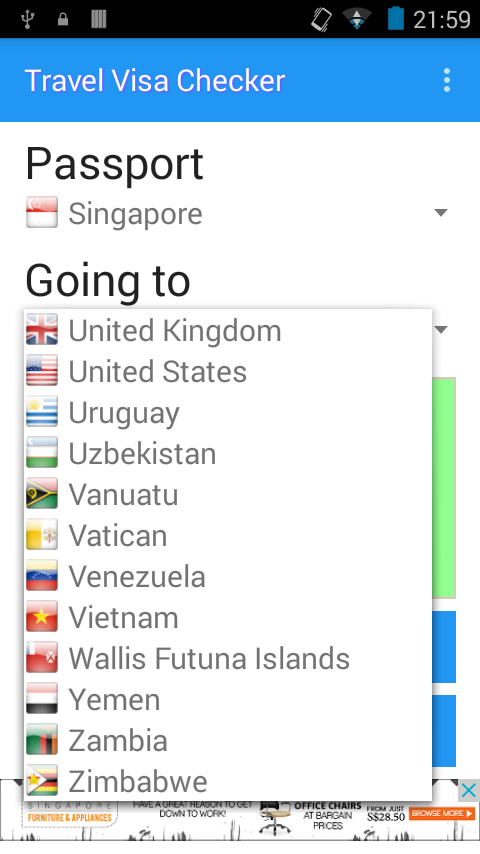 Travel Visa Checker- screenshot