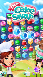 Crazy Cake Swap: Matching Game MOD Apk 1.78(Unlimited Golds) 5