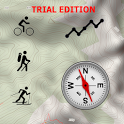 ActiMap FREE - Outdoor maps & GPS (Trial Edition) icon