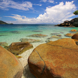 Fitzroy Island  by Geoffrey Wols - Landscapes Beaches ( water, queensland, turquoise, tropical, nudey beach, beach, paradise, rocks, fitzroy island,  )