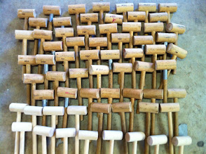 Photo: Wooden mallets for leatherwork