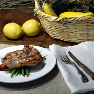 Quick Lemon Rosemary Grilled Pork Chops