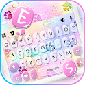 Color Raindrop Paws Keyboard Background icon