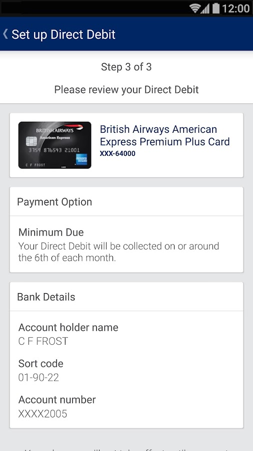 Amex UK- screenshot