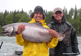 Photo: A 57 pound Alaska king salmon caught on the world famous Kenai river.