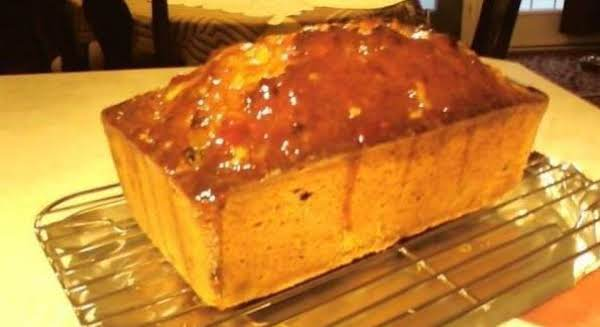 Yummy Honey Marmalade Glazed Banana Orange Loaf, Loaded With Roasted Nuts And Plump Seedless Raisins. Great As An Afternoon Treat Served With Fresh Brewed Tea, Coffee Or Beverage Of Your Choice..