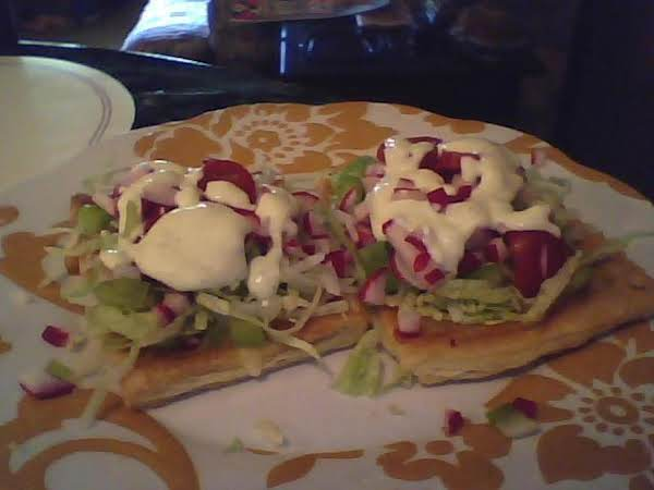 Salad With Pepper Jack Dressing On A Puff Plate Recipe
