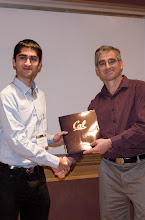 Photo: Saveen Sahni accepting the Jim and Donna Gray Endowment Award.
