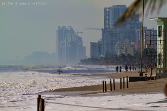 Photo: The beach  - so much sand was washed away