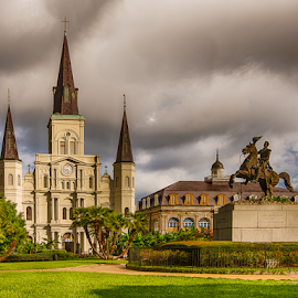 Jackson Square by Sheldon Anderson - Buildings & Architecture Public & Historical ( french qtr, new orleans, am, 2016, aug )
