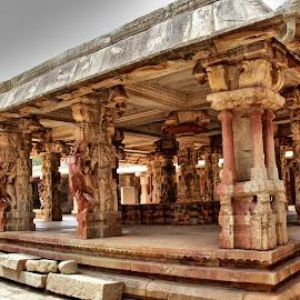 Nandi Temple by Dr Rekha S - Buildings & Architecture Architectural Detail ( temple, india,  )