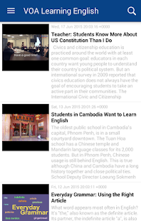 VOA Learning English- screenshot thumbnail