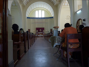 Photo: A Christian church in Yangon university