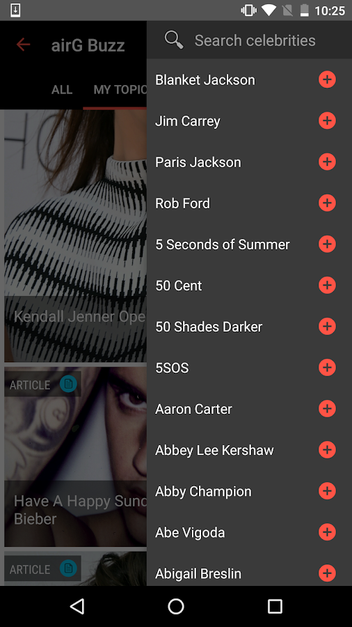 celebrity news  airg buzz feed   android apps on google play