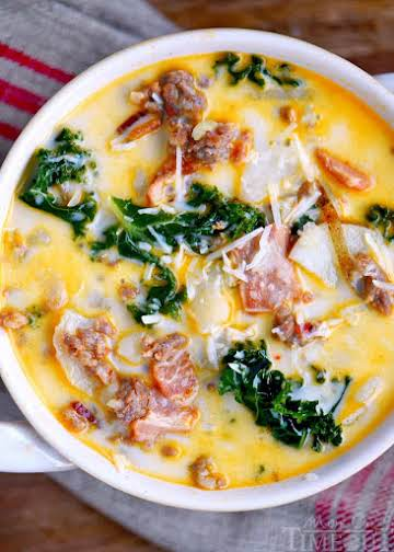 One Pot Olive Garden Zuppa Toscana Soup - Mom On Timeout