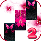 Pink Glitter Butterfly Piano Tiles 2019 icon